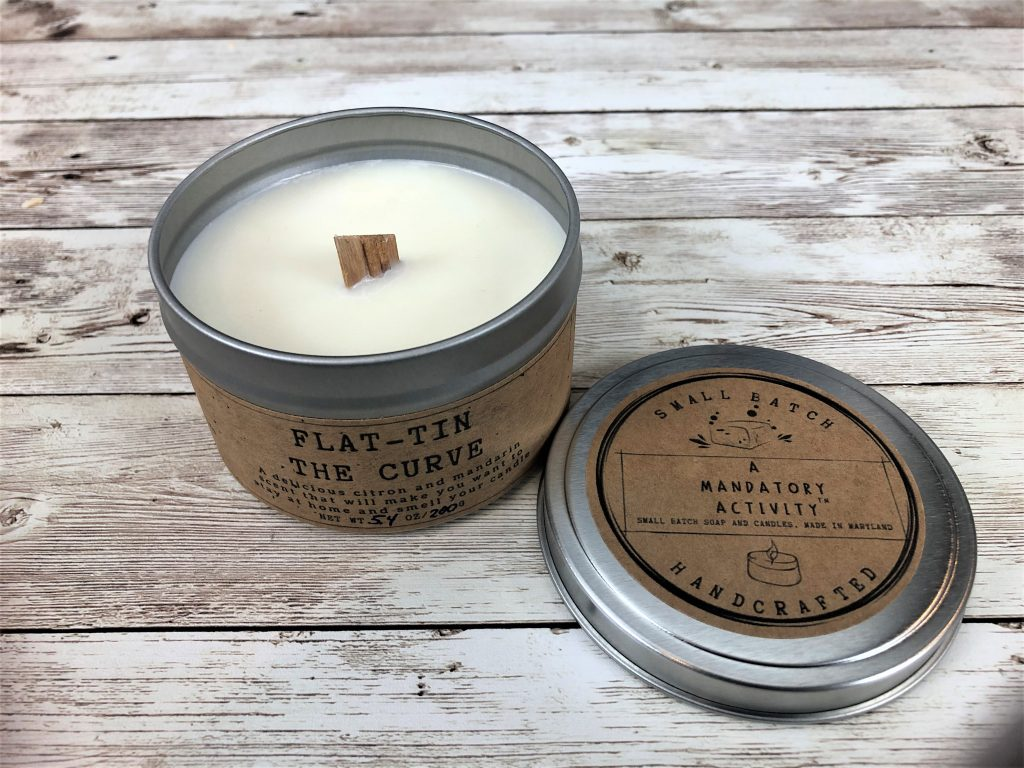 Flat-tin the curve candle
