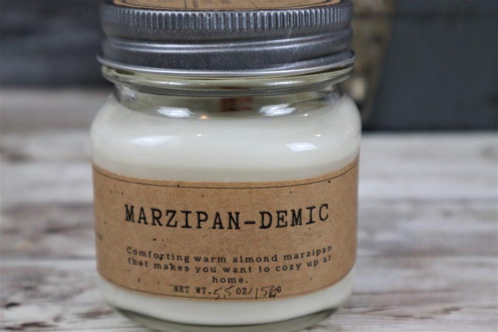 Marzipan-demic candle